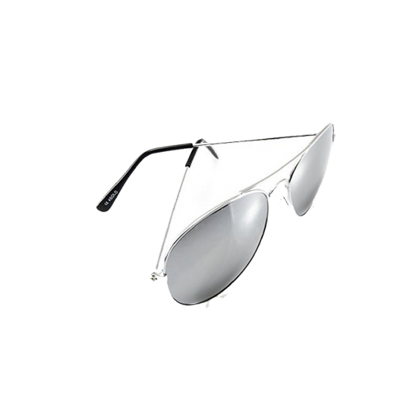 Unisex Silver Mirror Sunglass
