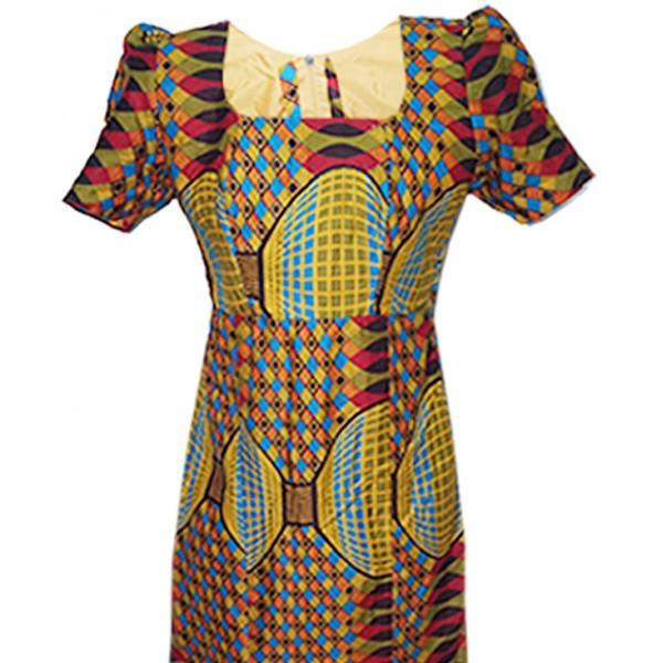 Size 12, Beautiful Ankara Gown & Head Tie