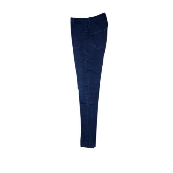 Size L, Lady's Plain Blue Pencil Jean