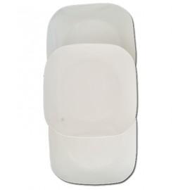 A Set of  3 White Ceramic Plates 5