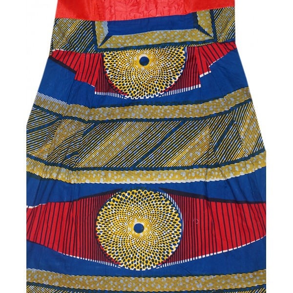 Size L, Midi Ankara Gown with Flared Hand