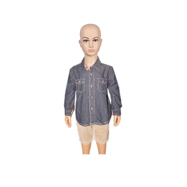 (2 years) Boy's 2pcs of Long sleeve Shirt with Short