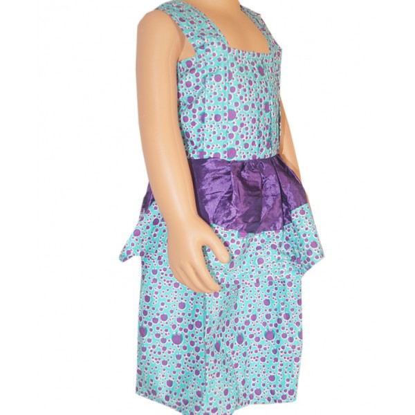 (2-3 years) Kid's Ankara Peplum Dress