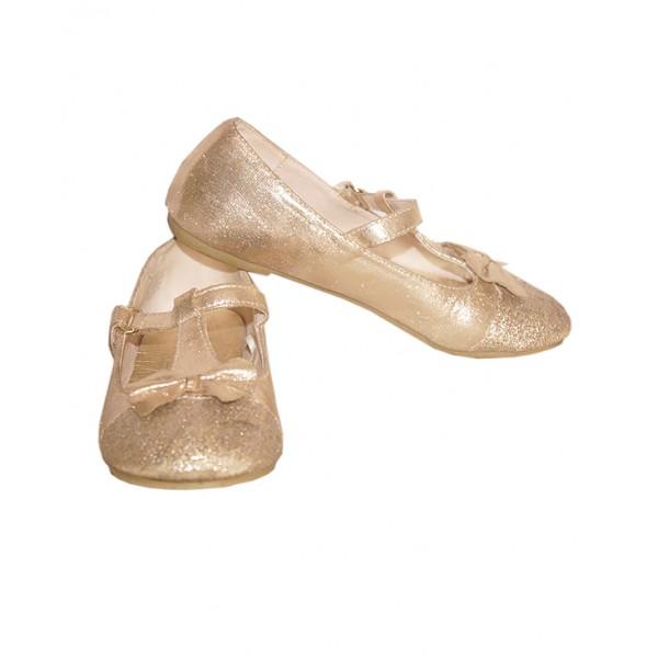 Size 12, Girls Glittering Flat Shoe