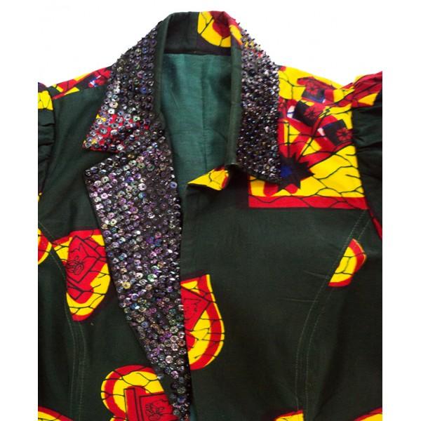 Size L, Ankara Lady's Coat