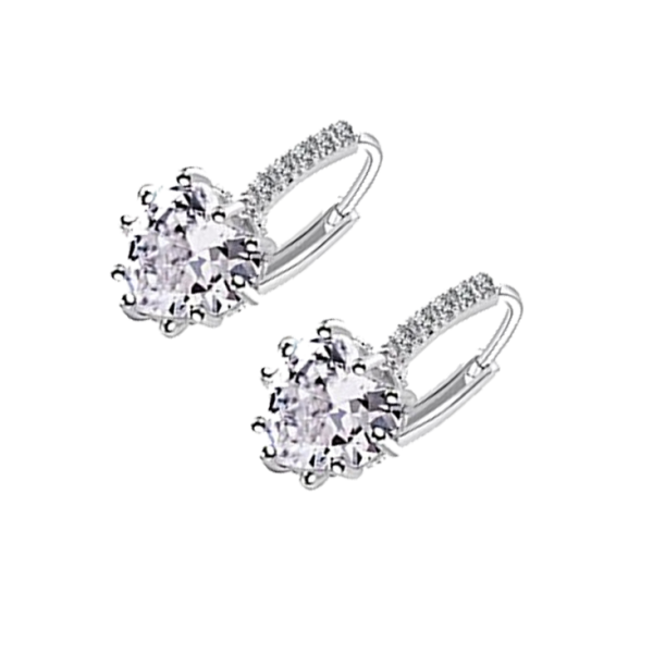 Women's Sterling Silver Ear Hoop Earrings
