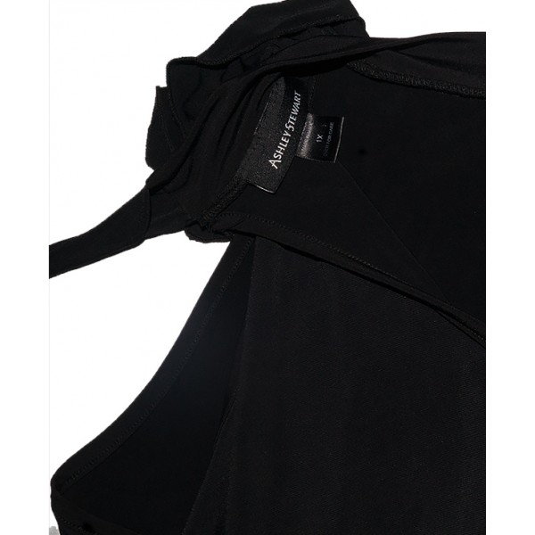 Size 10, Ashley Stewart Black Sleeveless Gown