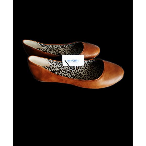 Aeropostale Faux Leather Ballet Flats