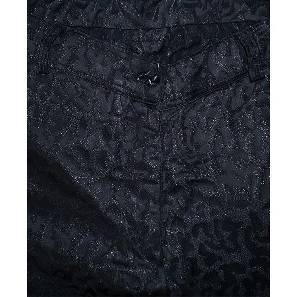 Size 38, Black Animal Print Pant