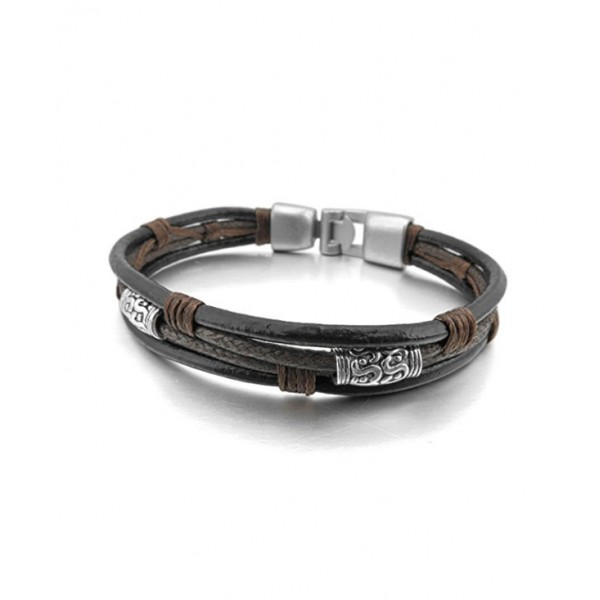 Alloy Genuine Leather Bracelet