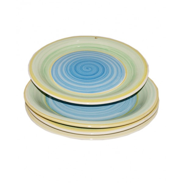 A Set of 4 Multi-color Ceramic Plates