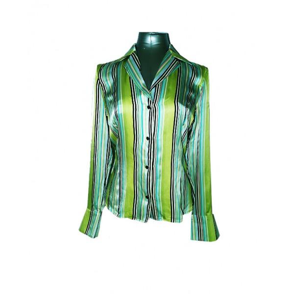 Size:M, Lady's Silk Long Sleeve Shirt
