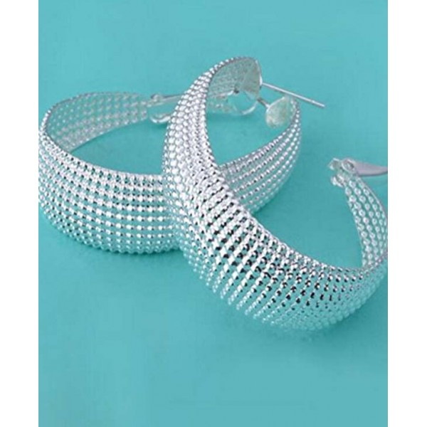 Hoop Earrings Sterling Silvery