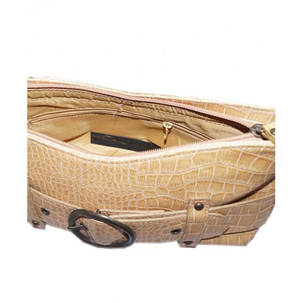 Crocodile Trimmed Handbag