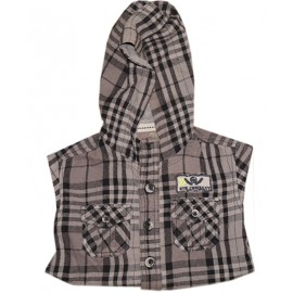 (3 years) Boy's Checkers Hoodie with Fashion Jeans