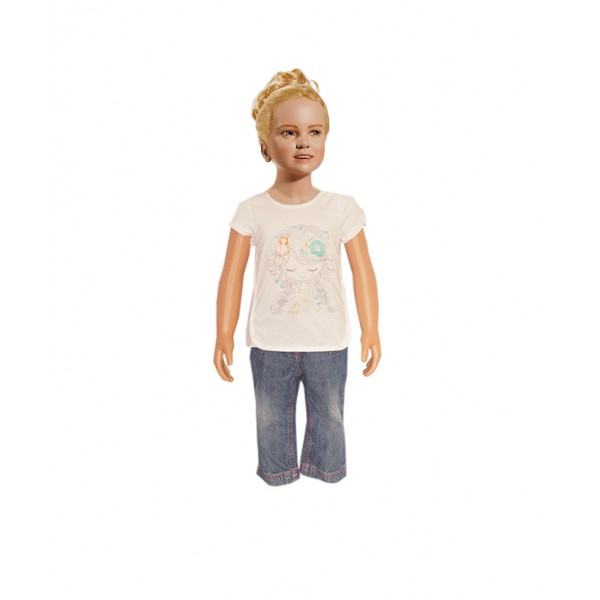 (1-2 years) Girl's Cute Tops with Jean