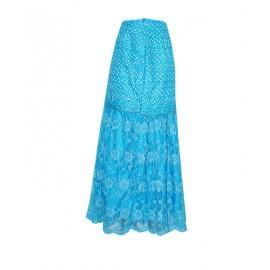 Size: L, Lace Illusion Skirt Blouse
