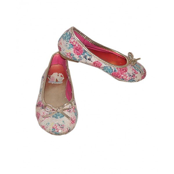 Size 10.5, Girl's Glittering Sequin Flat Shoe