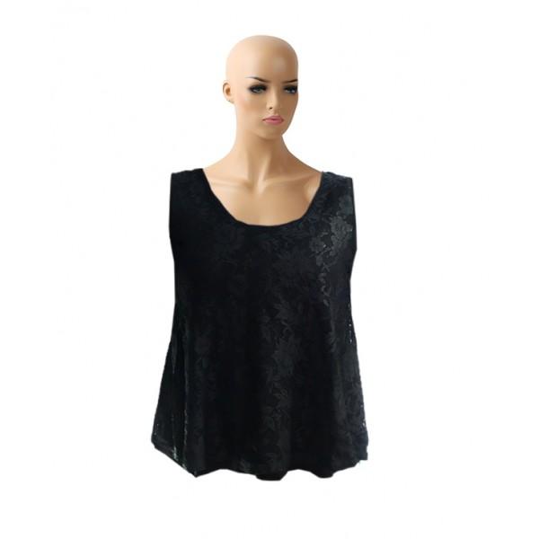 Size M, Sleeveless Crop Net Top