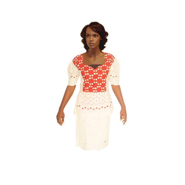 Size XL,  Ankara & Dry Lace Skirt with Blouse