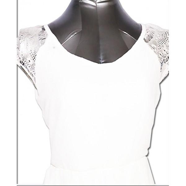 Size: M, Fancy White Gown