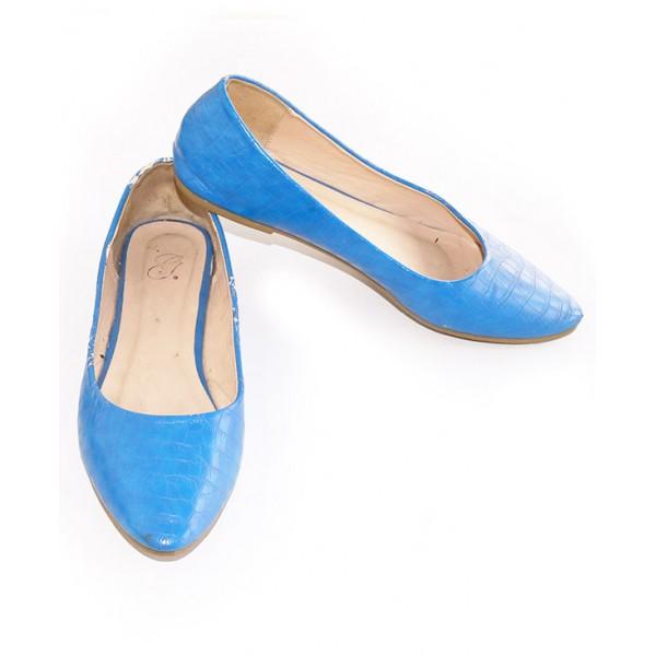 Size 39, Lady's Blue Flat Shoe